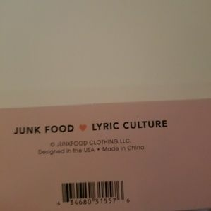 Junk Food Clothing Accessories Junk Food Lyric Culture Patch Set